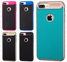 Frame HYBRID HARD Case Rubber Phone Cover For iPhone 7 7Plus
