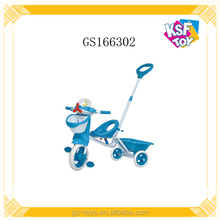 Children Ride On Car Hand Push Control Pedal Baby Tricycle With Music