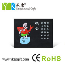 Chinese well-known saying painted rectangle home table decor paintable resin ornaments crafts