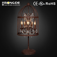 T6001-5OR crystal chandelier table lamp