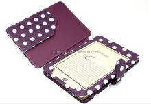 For 2016 New Kindle touch leather case, For Factory offers kindle touch Case
