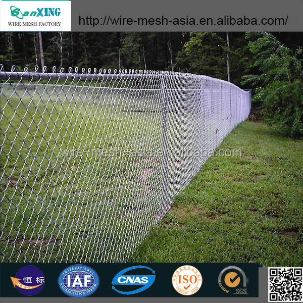 galvanized diamond wire net also named chain link fence