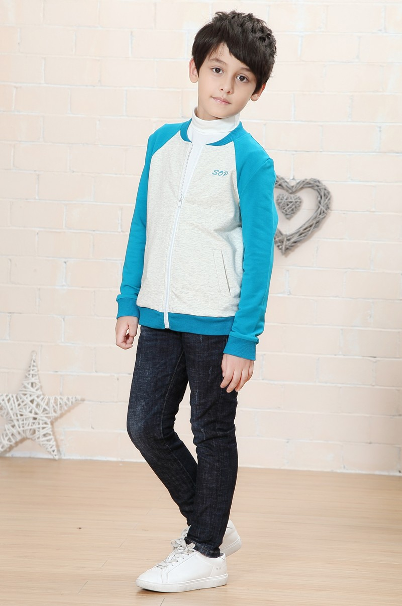 Fashion apparel long sleeve boys sport wear autumn clothes for kids children sweatshirts