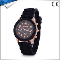 China Cheaper Hot sale Geneva New 2014 Luxury Fashion Ladies sports brand silicone jelly watch GW015