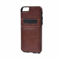 Stylish leather moblie luxury case with card slots fashion cell phone case for for iphone 6