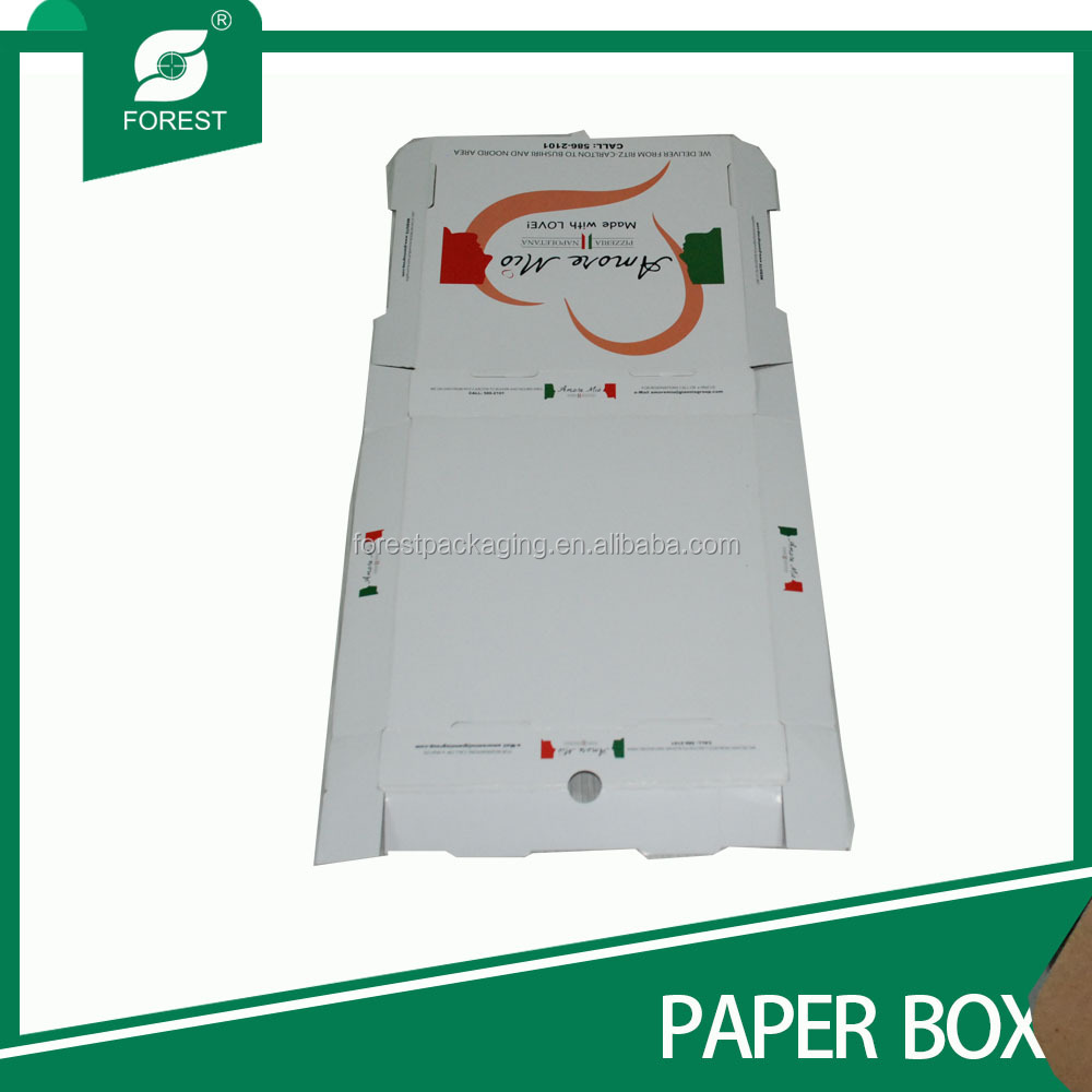 CHINESE RECYCLED PRINTING EASY TAKE PIZZA BOX
