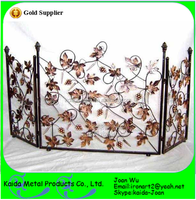 Fireplace Accessories--Wrought Iron Fireplace Screen For Sale