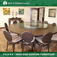 Rattan Dining Set Outdoor Furniture Restaurant