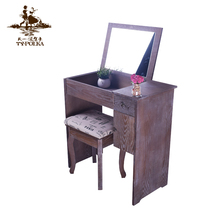 New product mdf woman dressing table with foldable mirror