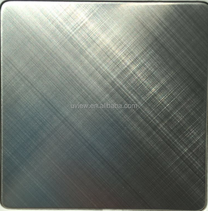Cross hairline coated black colored stainless steel sheet