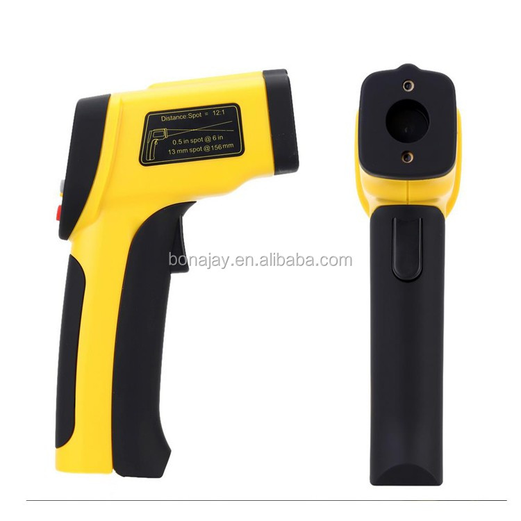 Dual laser ir thermometer with Backlight LCD Display -50-650C HT817