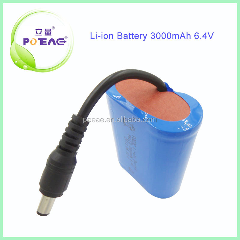 Guangdong 2s1p 3000mah 6.4v lithium iron phosphate battery for solar system