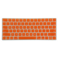 Orange Color Silicone Keyboard Cover for Magic Keyboard, US English Version for Apple Accessory