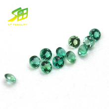 hot sale 1.5mm green nano round shape emerald loose gemstones