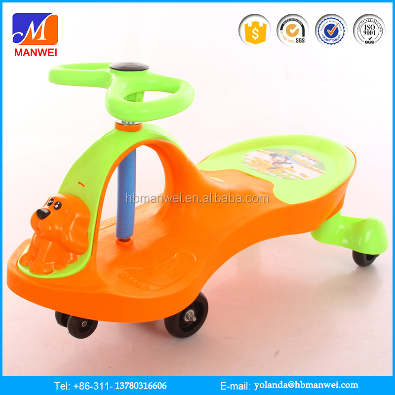 2016 swing car kids child assembling drivable toy transformer car
