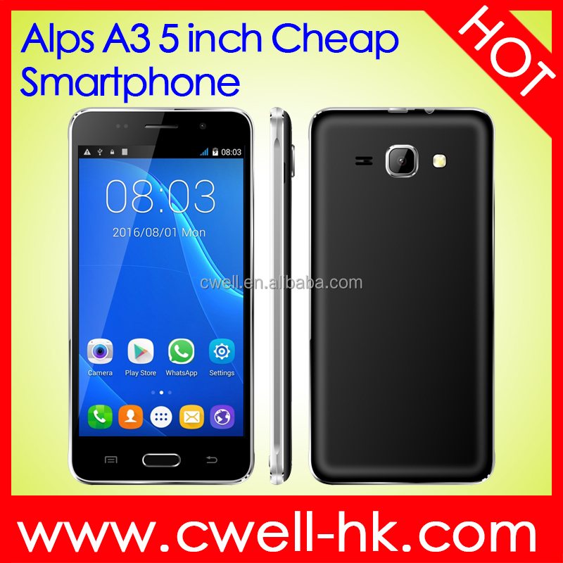 shenzhen mobile phone manufacturers Alps A3 5 inch WCDMA 3G Low Price China Android Mobile Phone