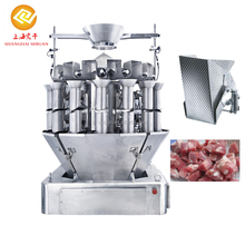 Screw feeding computerized combination weigher for chicken wings, chicken legs, fish, raw beef,lobster, shrimp