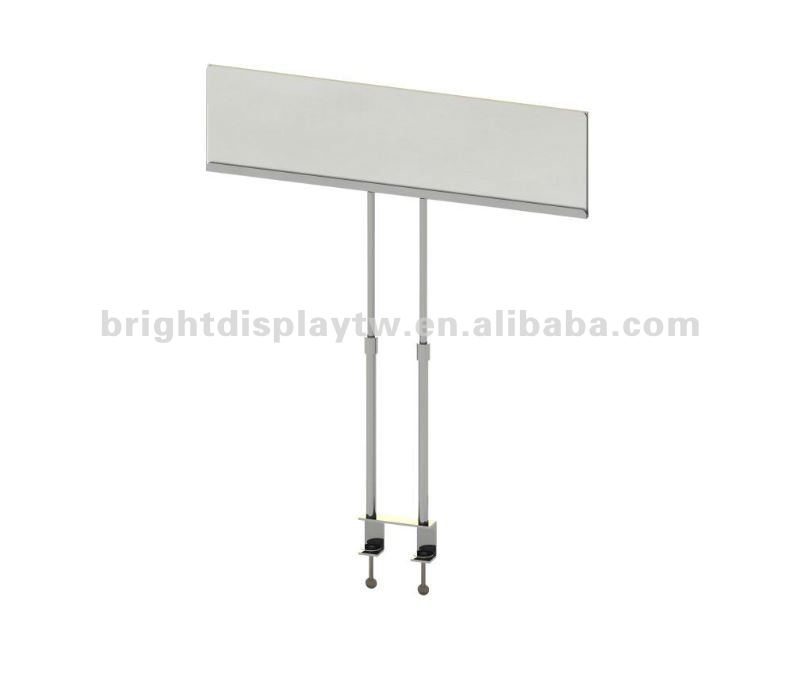 Acrylic sign holder with clamps Acrylic display holder
