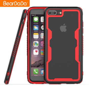Hot Sale frame bumper for iphone 8 plus hybrid shockproof protective case