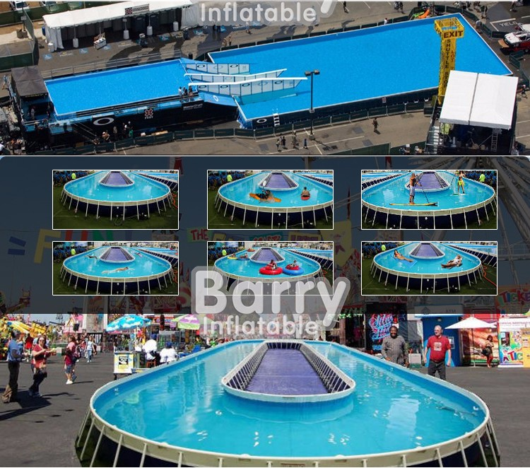 Hot sale single lane giant sharp inflatable aqua run