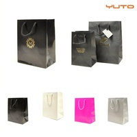Luxury Glossy Paper Gift Bag Paper Carrier Bag Party Bag Pack of 50