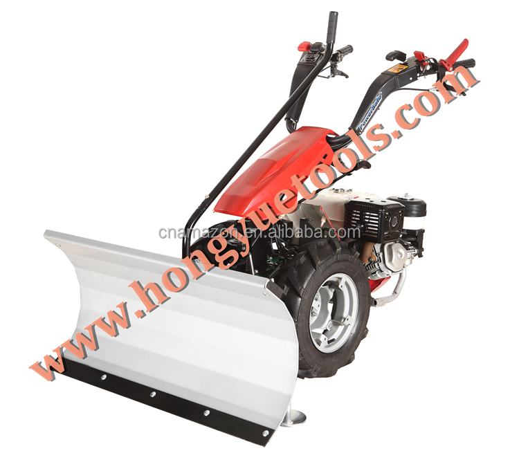 13HP two wheel tractor, gear drive, hydro-mechanical clutch with snow blade