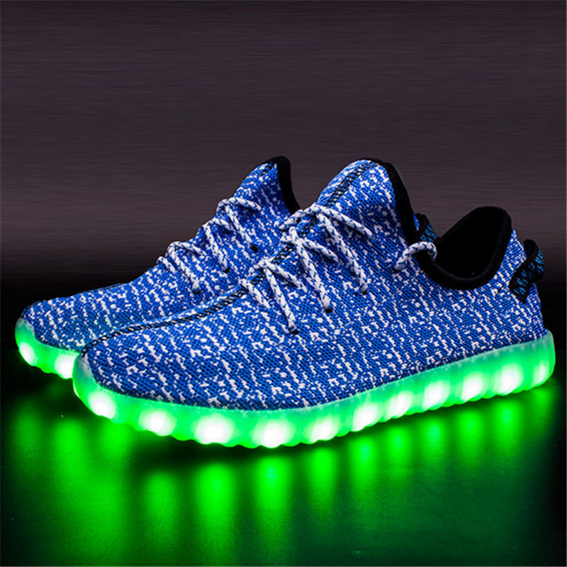New Yezzey Led Shoes Men & Women Light Up Shoes Luminous Mens Shoes Sales Casual Glowing Zapatillas Deprotivas Hombre Led