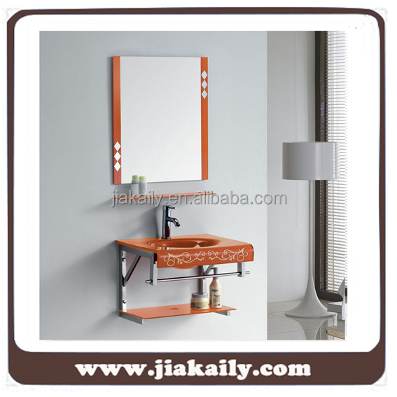 JKL-624 Orange color bathroom wall mounting Stainless Steel cabinet