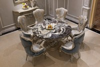 Dragon Mart Dubai 6 Seater Dining Table Set Marble Top