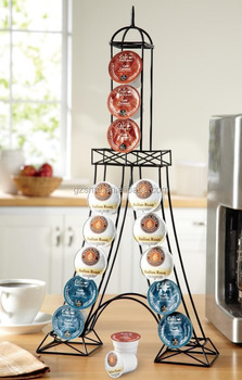 Tower Shape Metal Coffee Pod Holder Kitchen Organiser Rack Holder