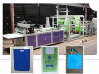 Good service d cut nonwoven bag making machine/ ultrasonic sewing machine