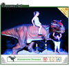 Children games ground dinosaur rides