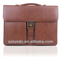 Top quality leather mens executive briefcase bag