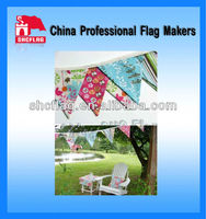 Custom cheap decorative bunting and pennant flags