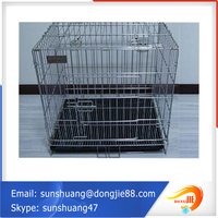 "online shopping 48"" Folding Pet Crate Kennel Wire Cage Cats or Rabbits"