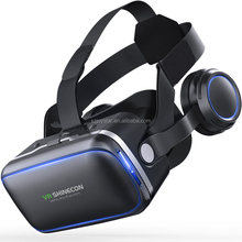 Hotsale VR Shinecon 6.0 With Headset Vr Box Virtual Reality Goggles 3D Cardboard Glasses Virtual Box Realidade 3D Movie Game