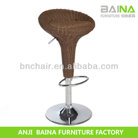 Wholesale heavy duty large ratan bar stools