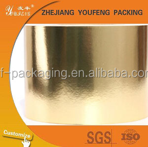 supply 50g-80g bright golden/silver aluminum foil laminated paper/6.5mic/7mic