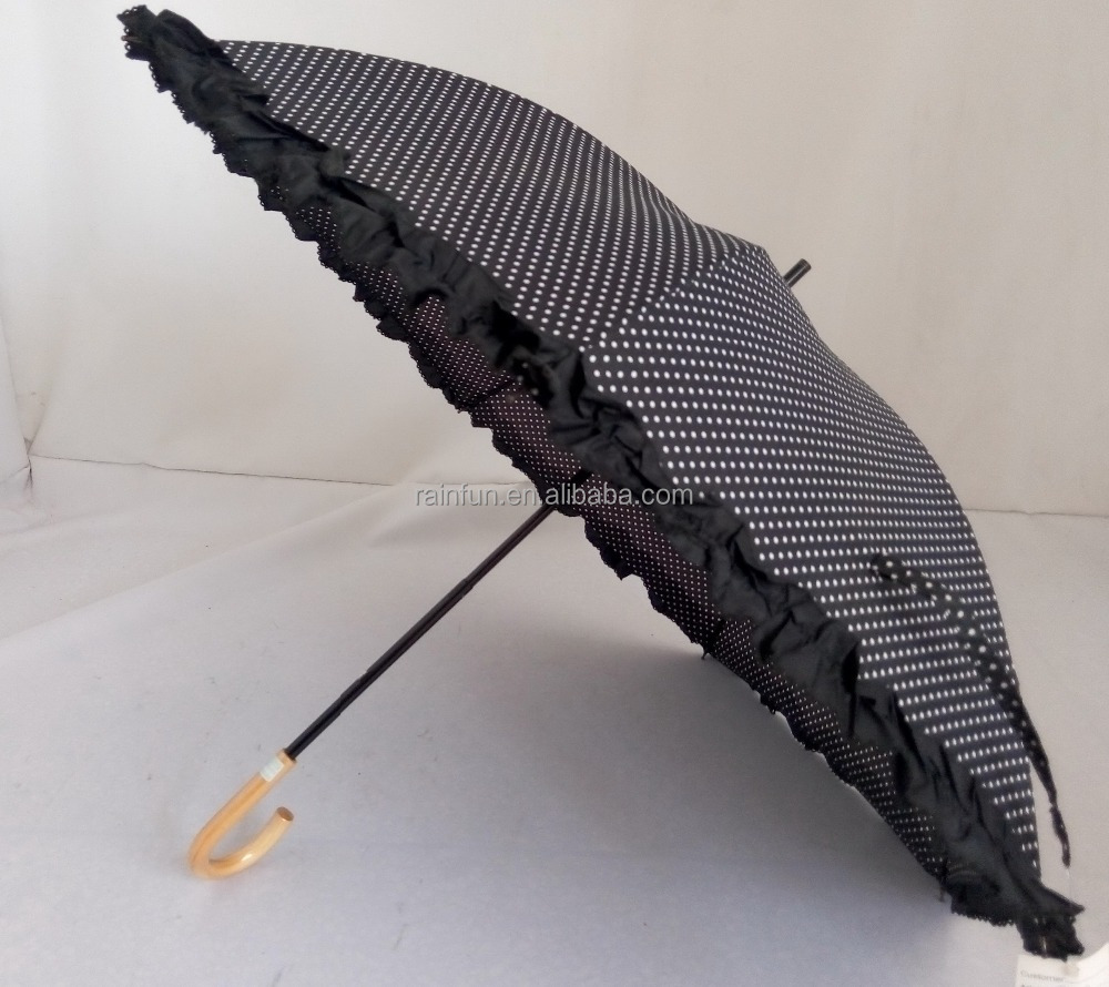 High quality Japanese style manual open parasol umbrella with piping