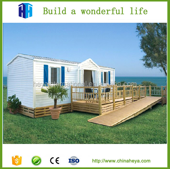 Flat Roof Modular 3 bedroom prefab cement concrete house