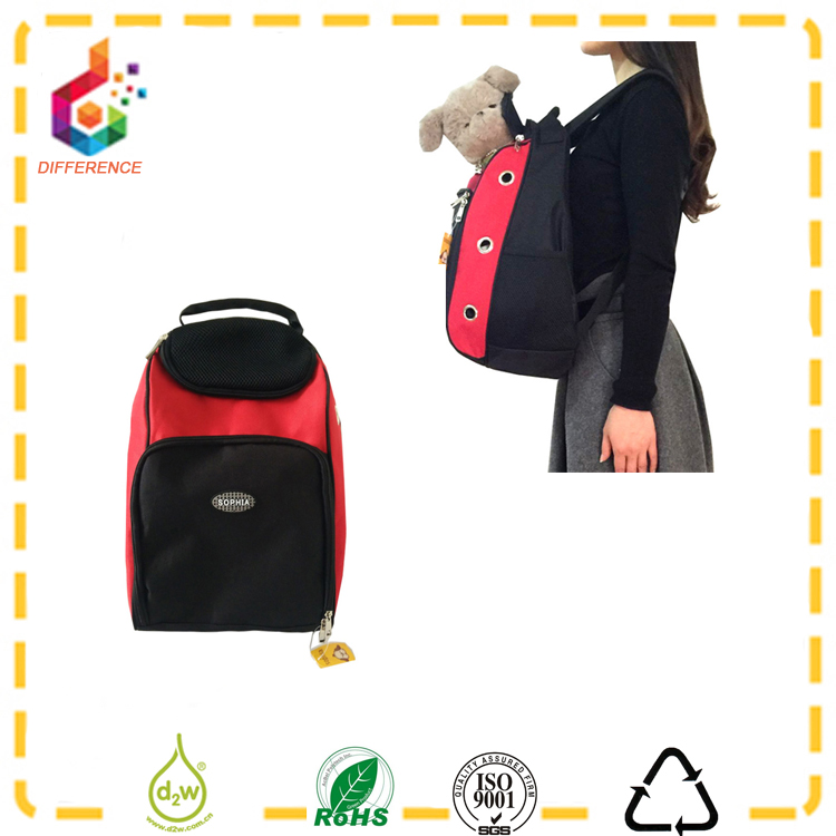 eco-friendly outdoor red dog carrier bag