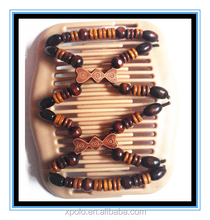 2016 High quality African butterfly Elastic Wooden Beaded Magic Comb