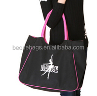 Colorful Logo Embroidery Waterproof Dance Costume Garment Organizer Tote Hand bag