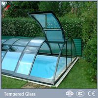 10mm tempered glass for swimming pool glass cover