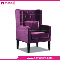 Living room sofa modern red armchair luxury cheap single sofa chair leisure fabric 1 seat chair