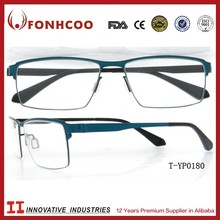 FONHCOO Eye Glass Frames Men Titanium Full Rim Optical Frame Rectangular