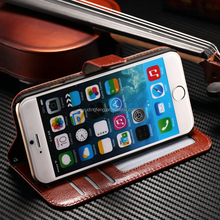 Crazy Horse leather bag / wallet cell phone case / dot view case for iPhone 6 case leather
