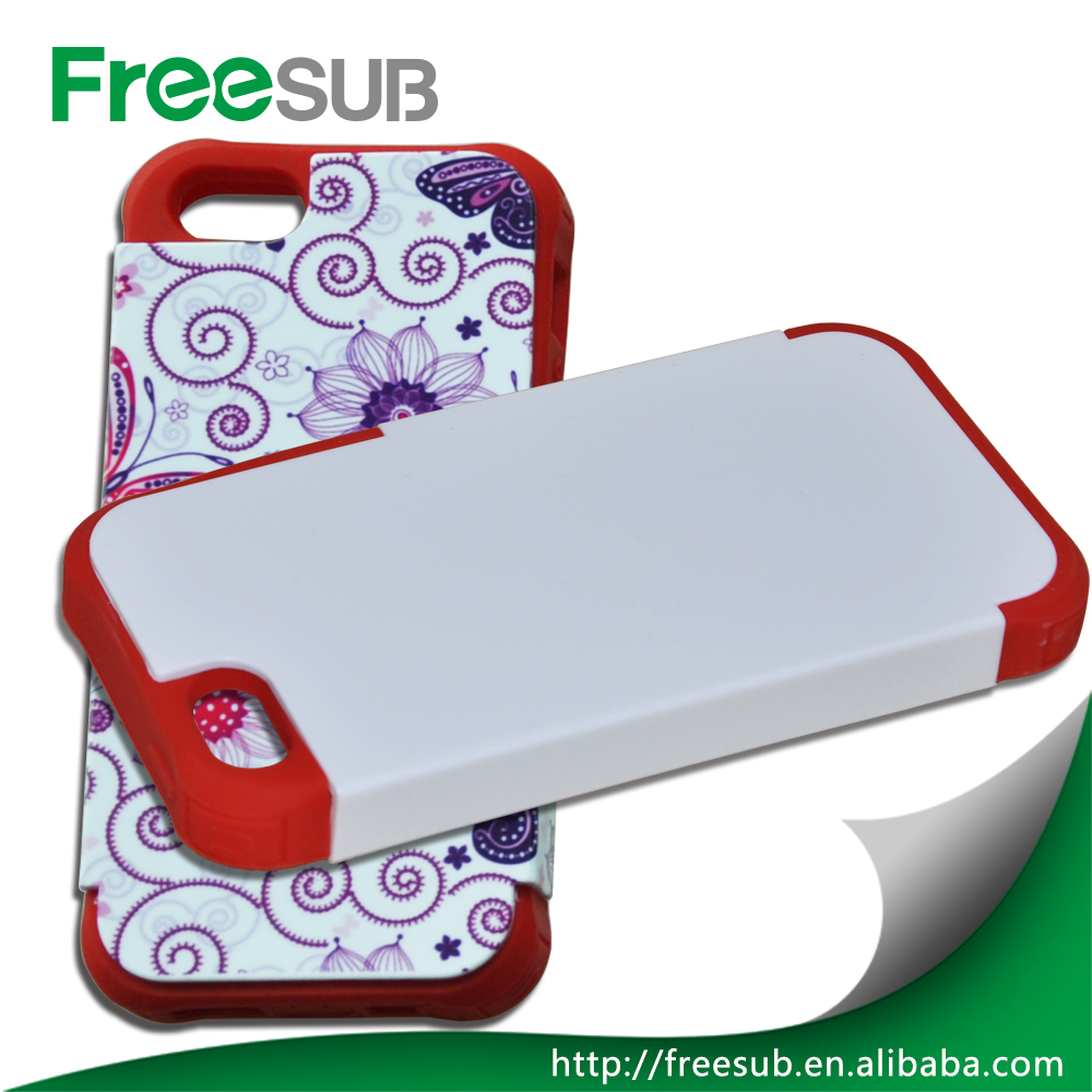 3d sublimation phone case 2 in 1 Silicon and Plastic mobile phone cover