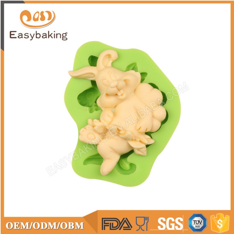 New Resting Easter Rabbit Candy Molds Silicone For Gifts