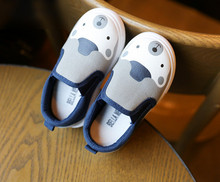 wholesale white canvas cartoon shoes kids bear and rabbit
